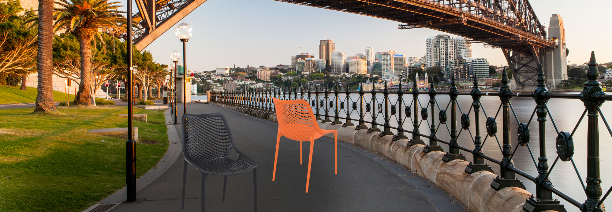 Sydney Harbour Bridge with Air Chairs