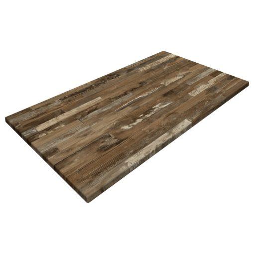 Werzalit By Gentas Rectangle Table Top Rustic Block Wood
