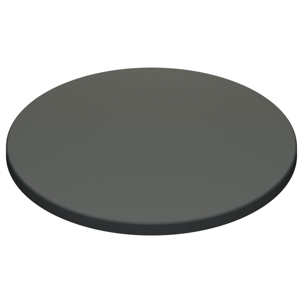 Werzalit By Gentas Round Table Top Anthracite 1