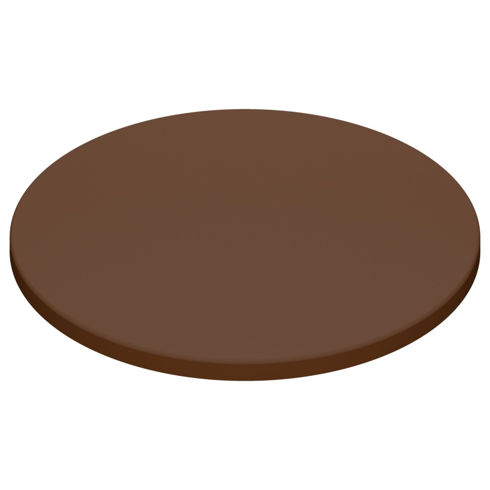 Werzalit By Gentas Round Table Top Chocolate