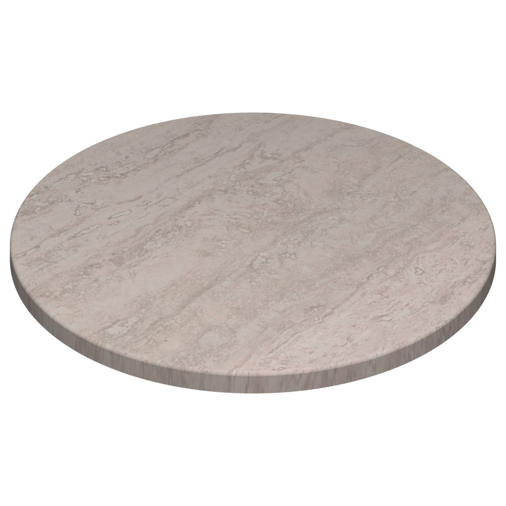 Werzalit By Gentas Round Table Top Travertine