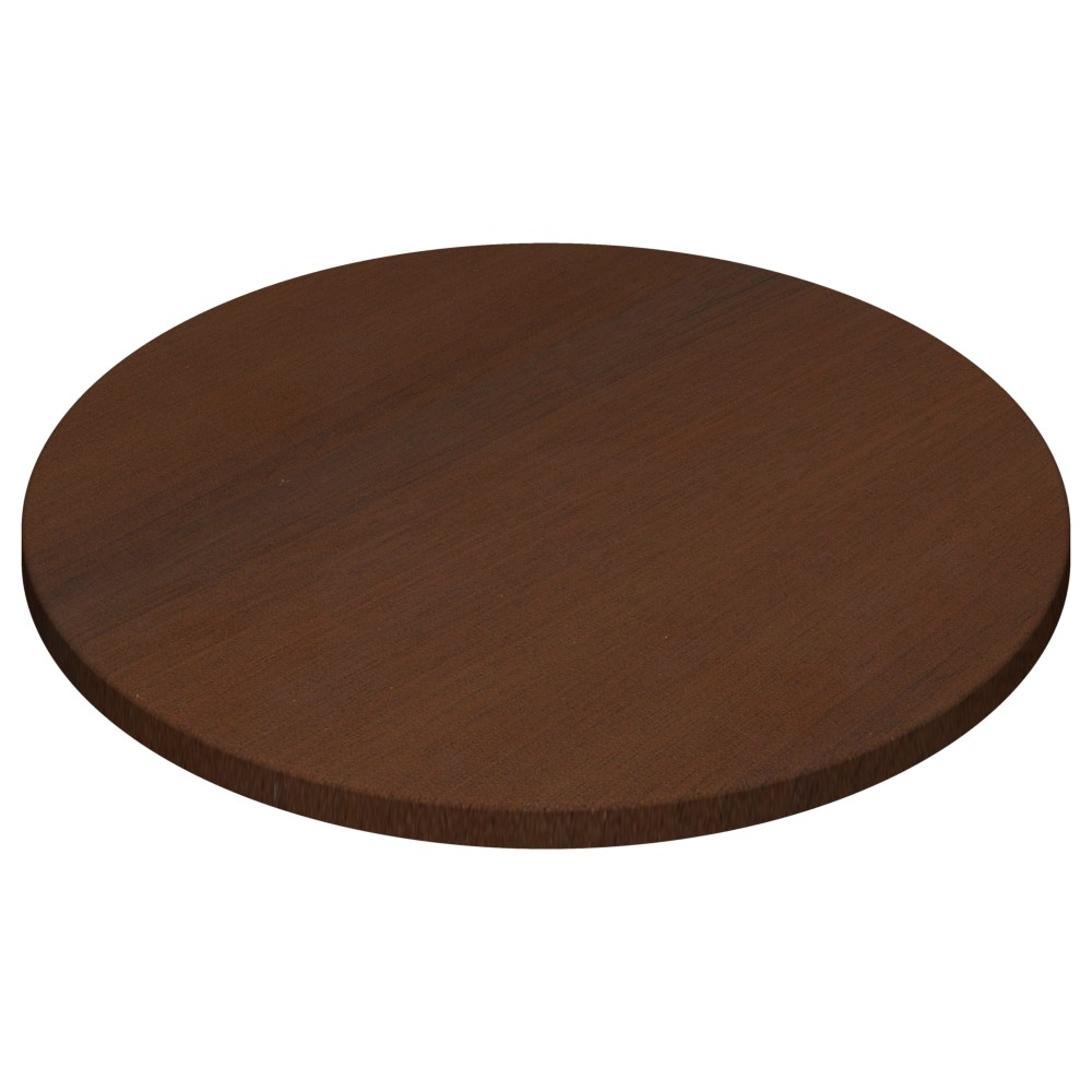 Werzalit By Gentas Round Table Top Walnut