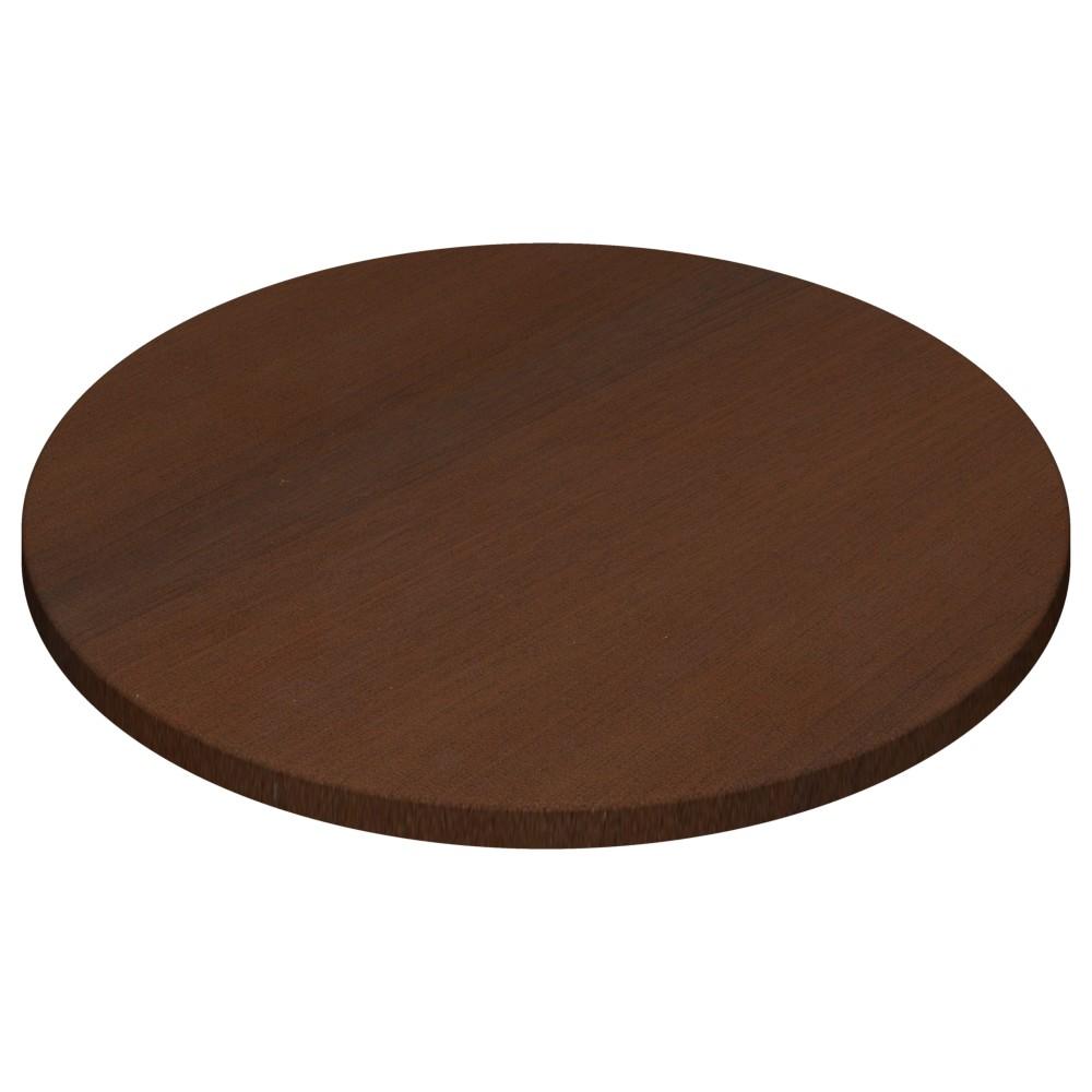 Werzalit By Gentas Round Table Top Walnut