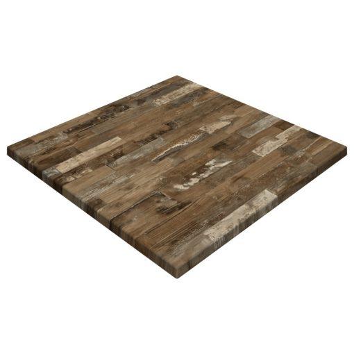 Werzalit By Gentas Square Table Top Rustic Block Wood