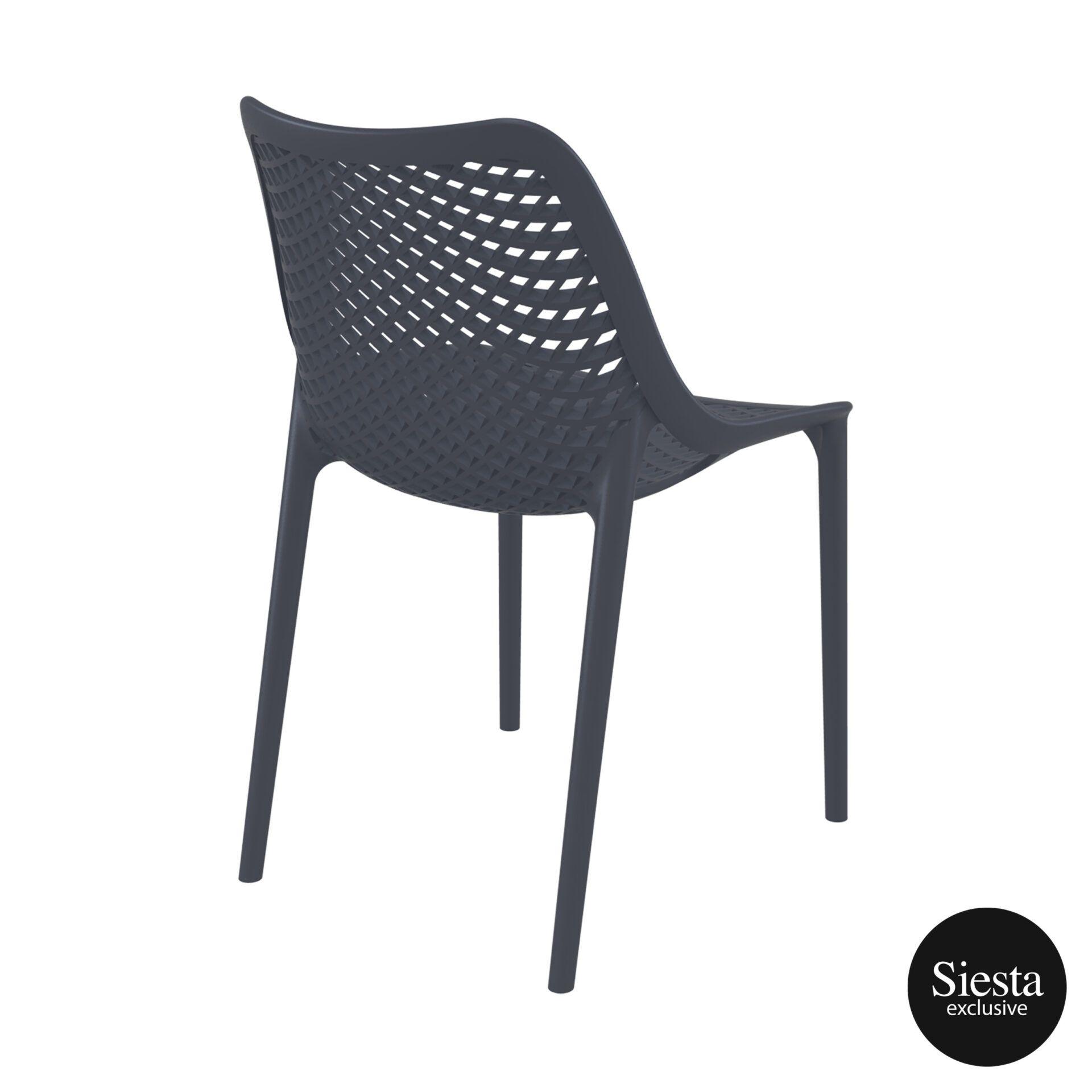 original siesta air chair darkgrey back side 1