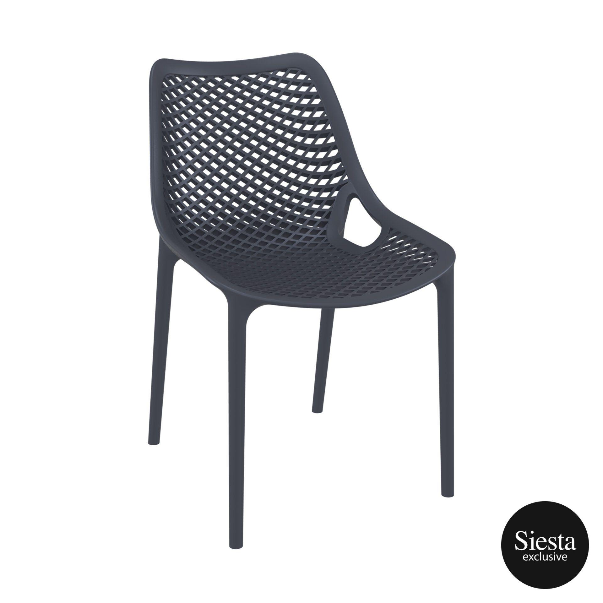original siesta air chair darkgrey front side 1