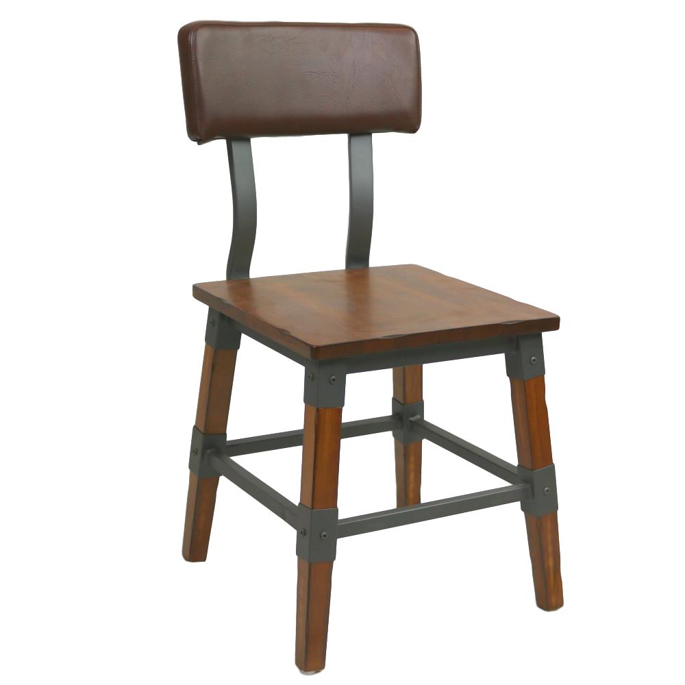 Custom Genoa Chair 480h Aw Timber Seat Vinyl Backrest Dt
