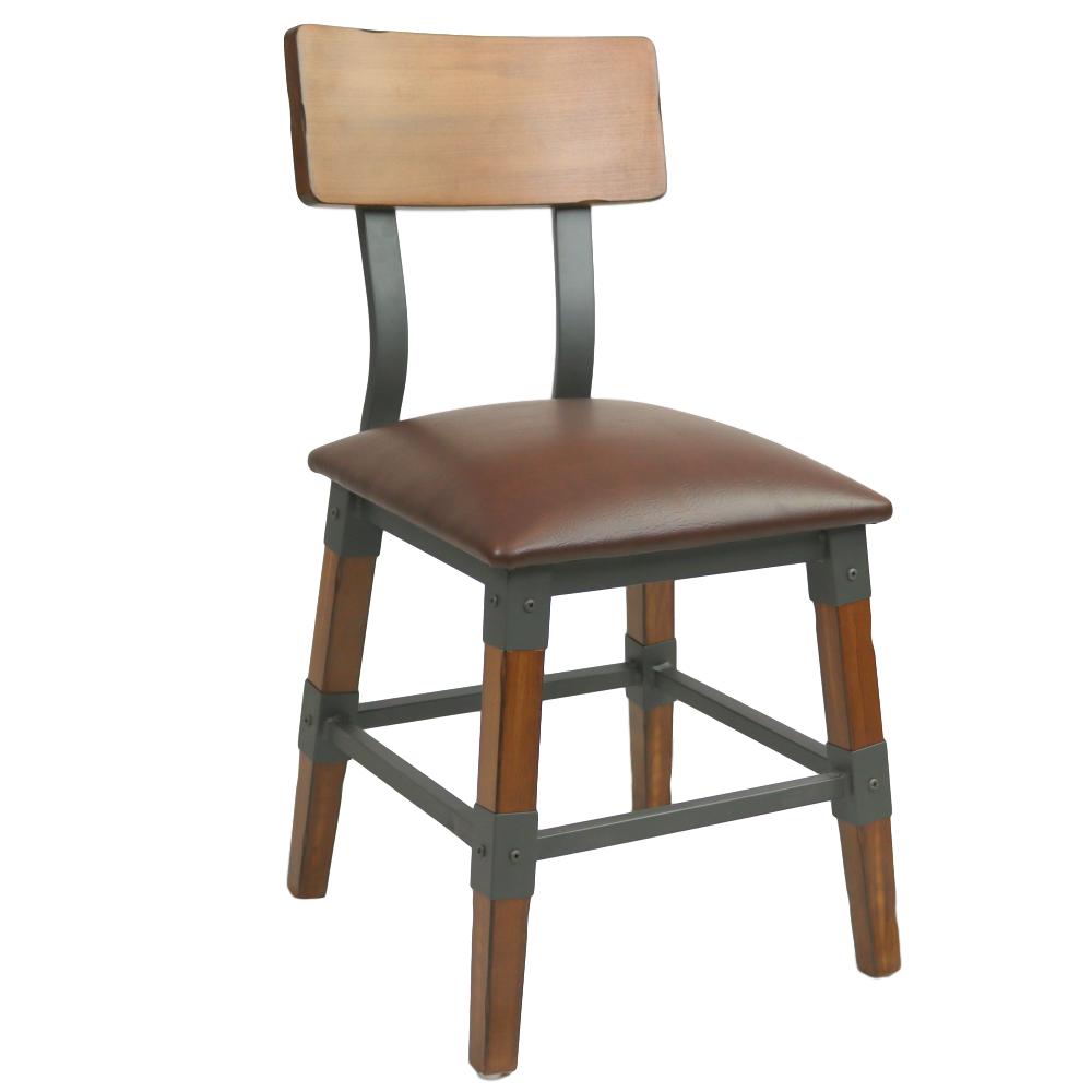 Custom Genoa Chair 480h Aw Vinyl Seat Dt Timber Backrest