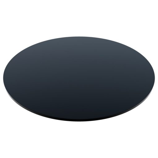 Compact Laminate Top Round Black