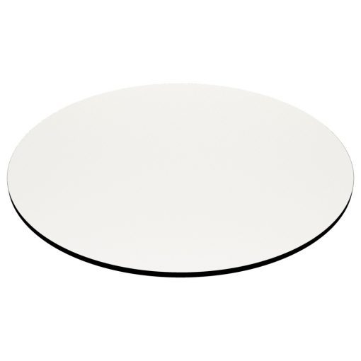 Compact Laminate Top Round White