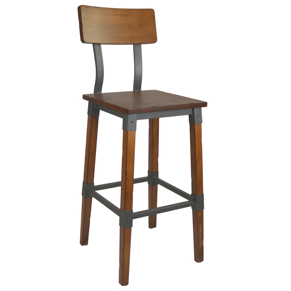 Kit A B C Genoa Barstool 730h Timber Seat Backrest Aw