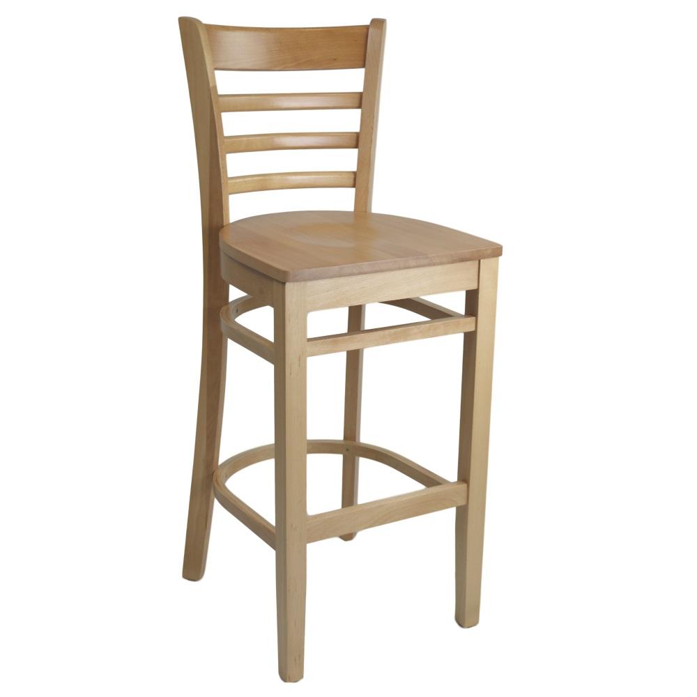 Kit A B Florence Barstool Natural Timber Seat