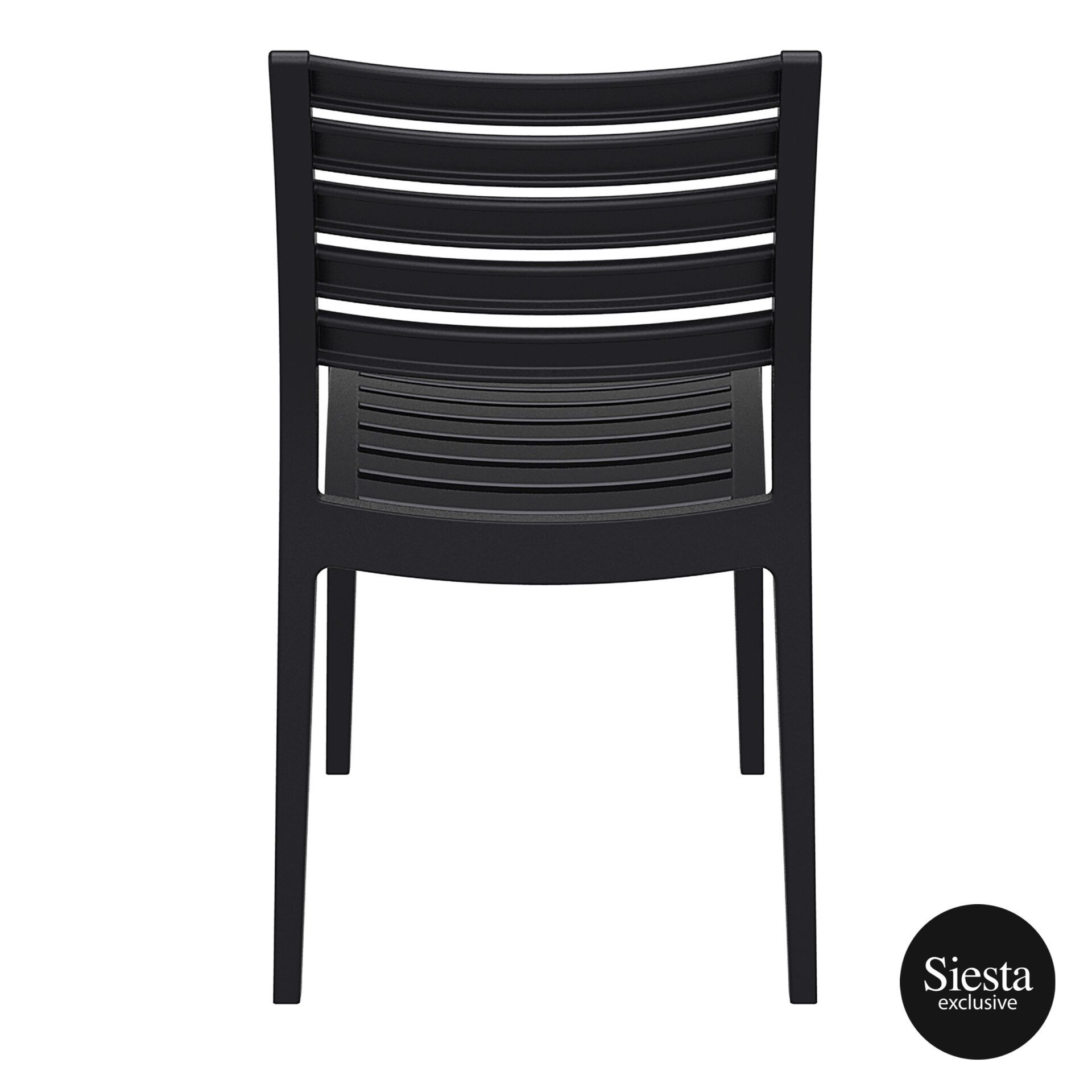 outdoor ares chair black back 1