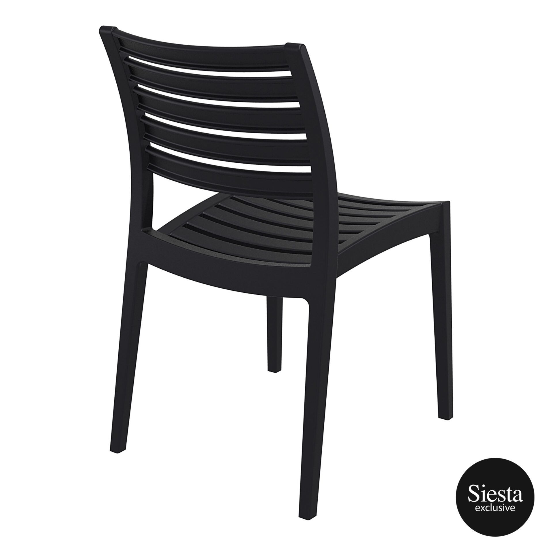 outdoor ares chair black back side 1