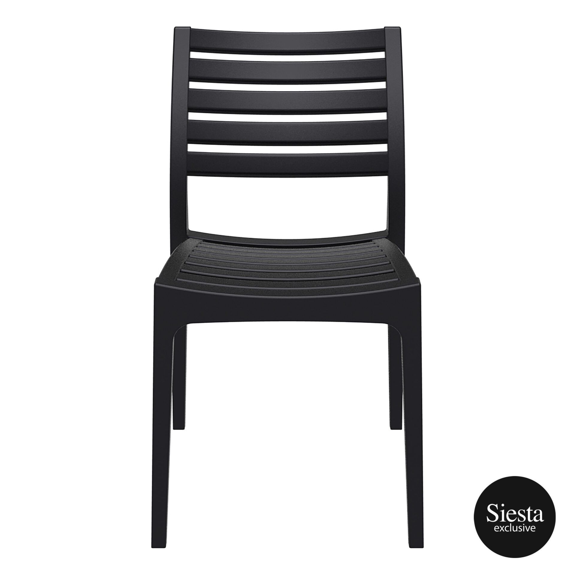 outdoor ares chair black front 1