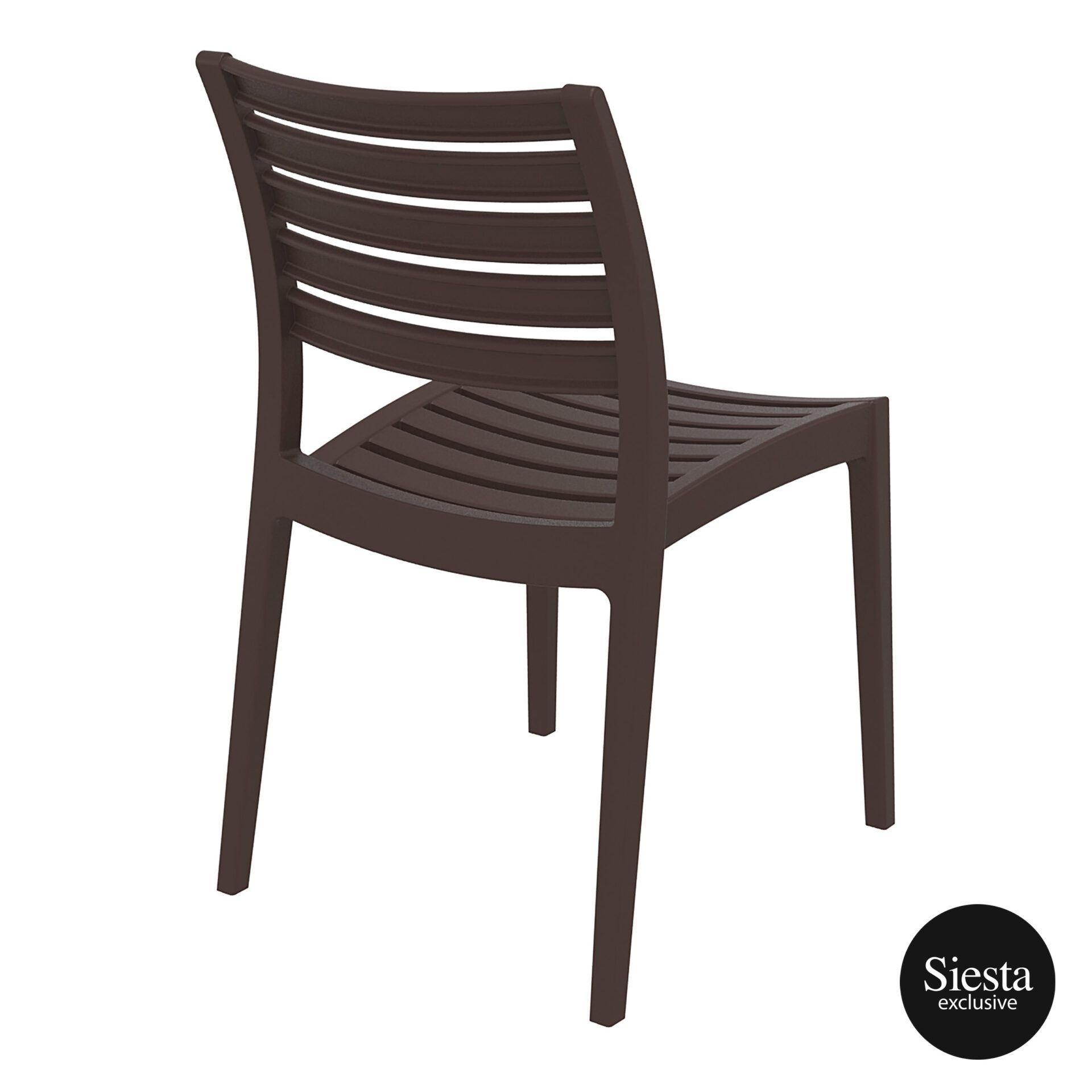 outdoor ares chair brown back side 1