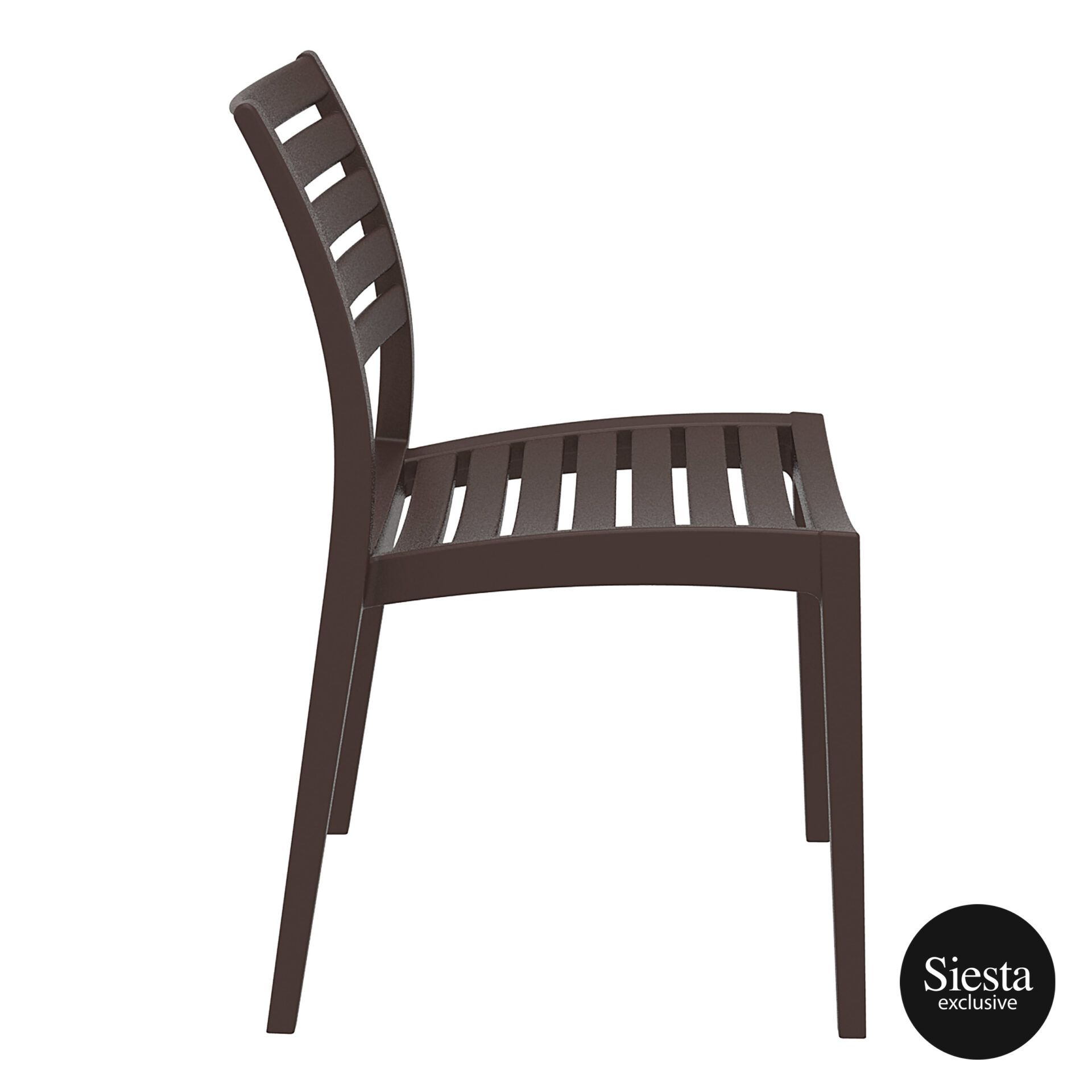 outdoor ares chair brown side 1
