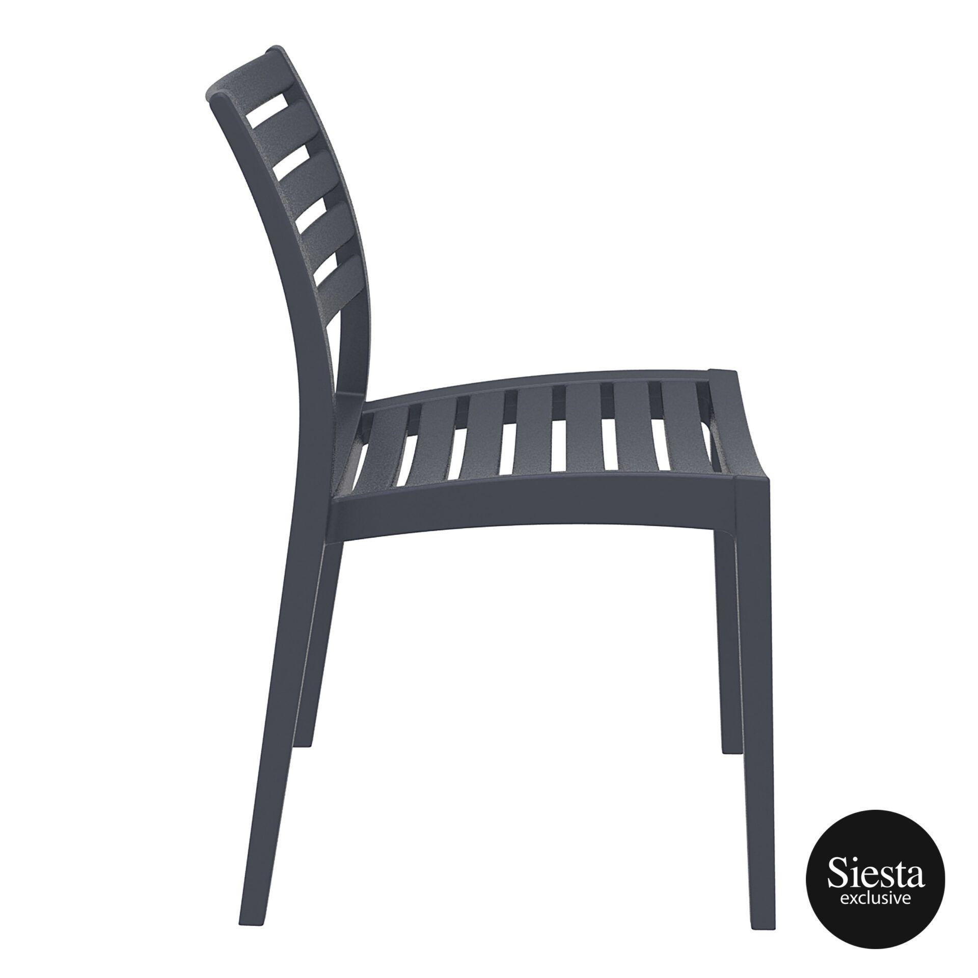 outdoor ares chair darkgrey side 1