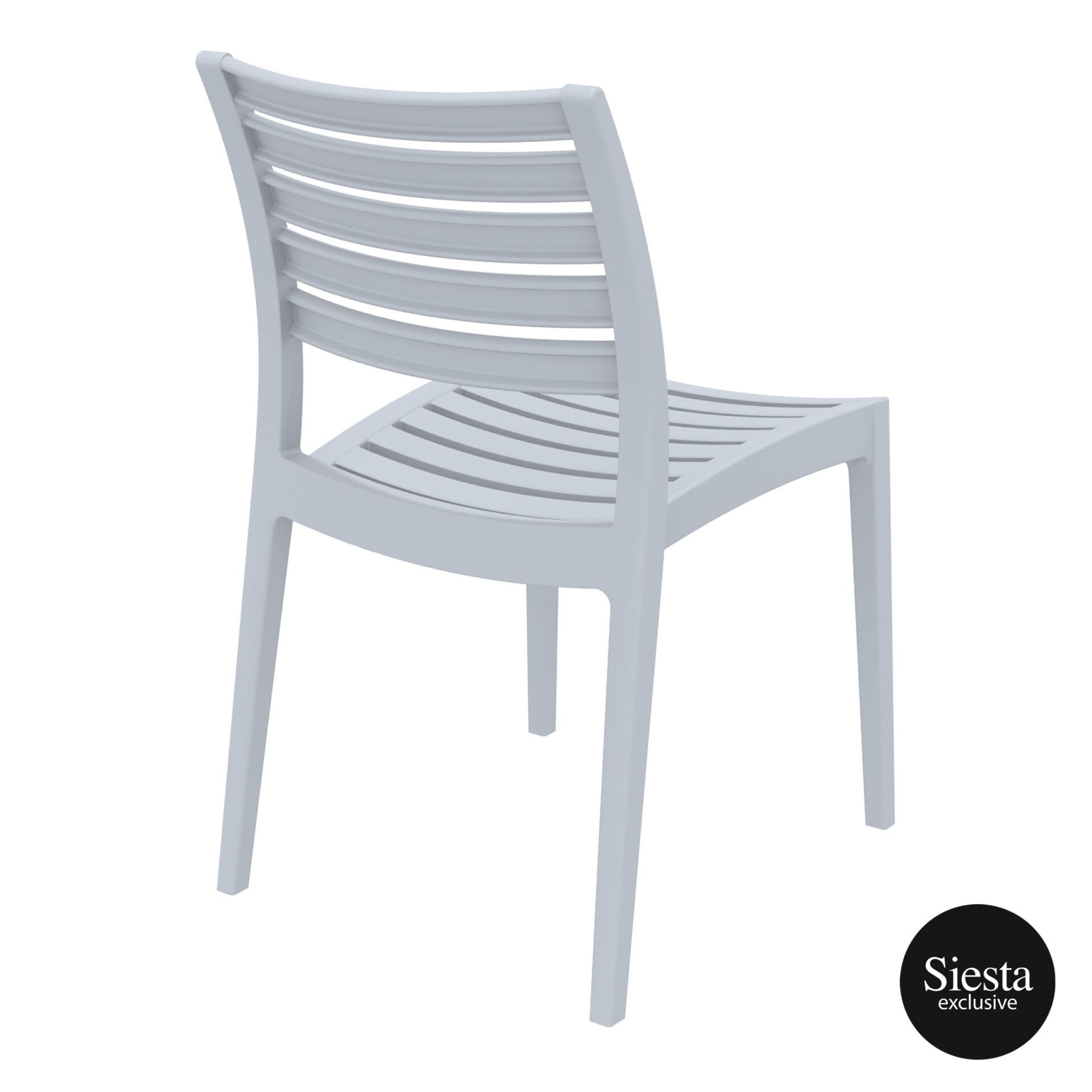 outdoor ares chair silvergrey back side 1