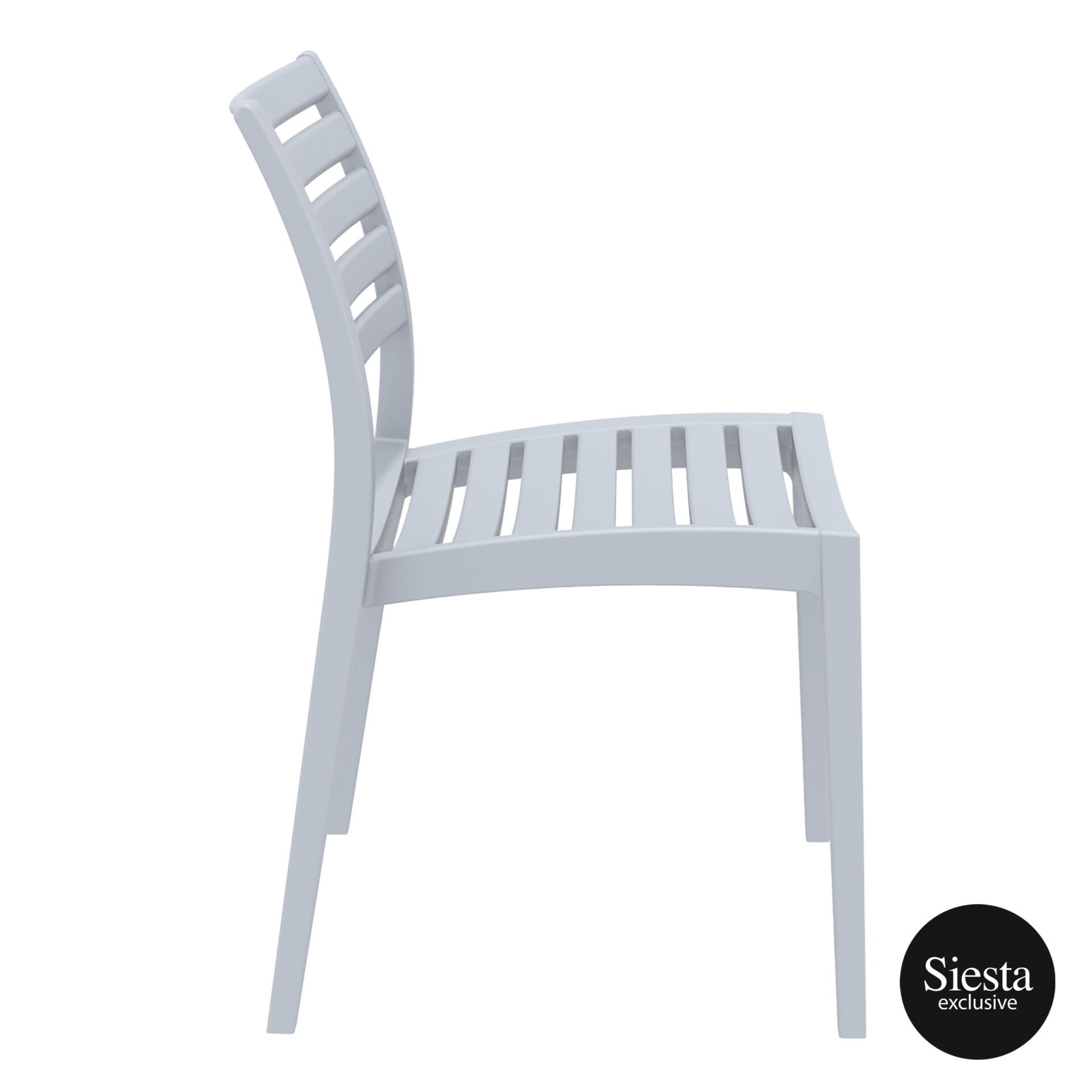 outdoor ares chair silvergrey side 1