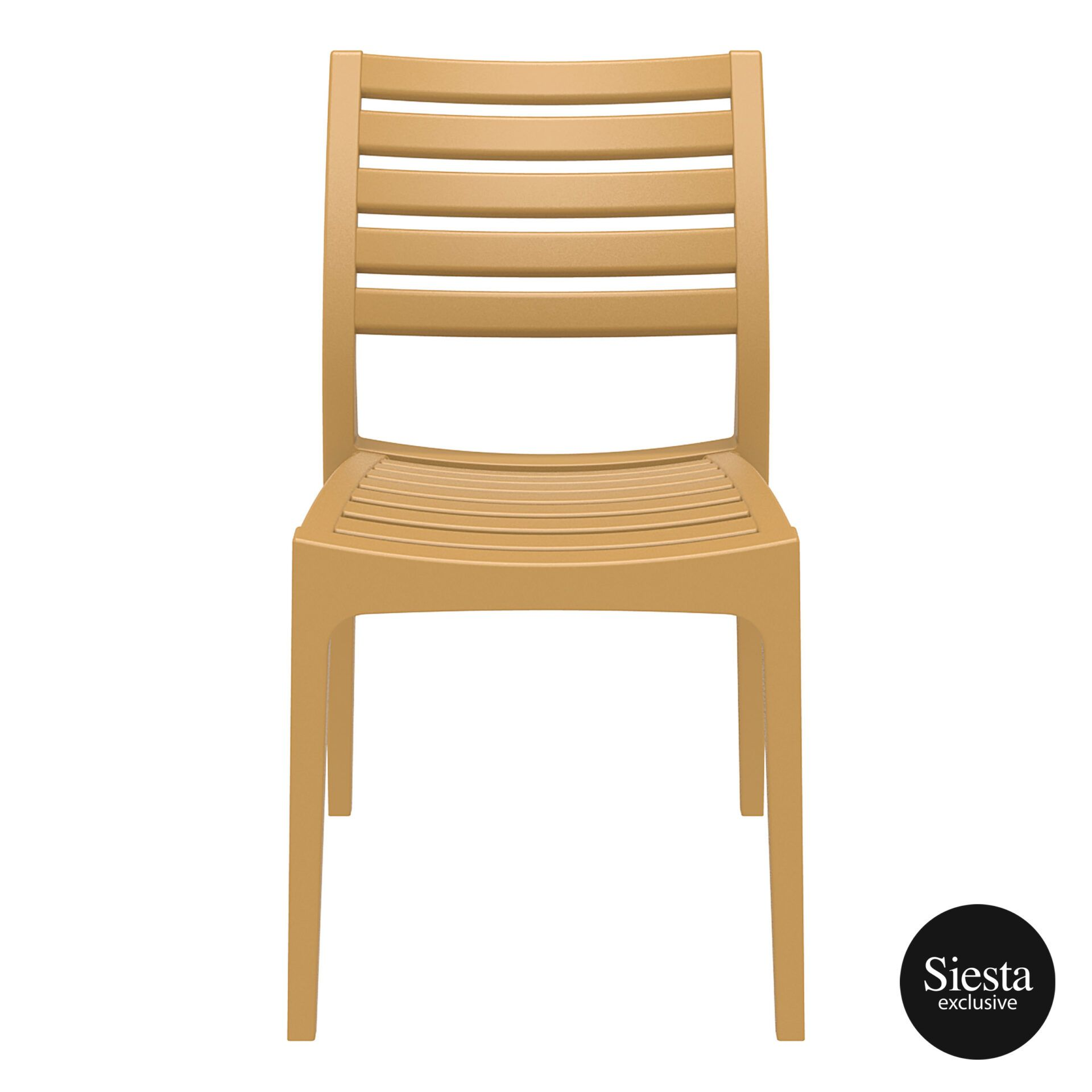 outdoor ares chair teak front 1
