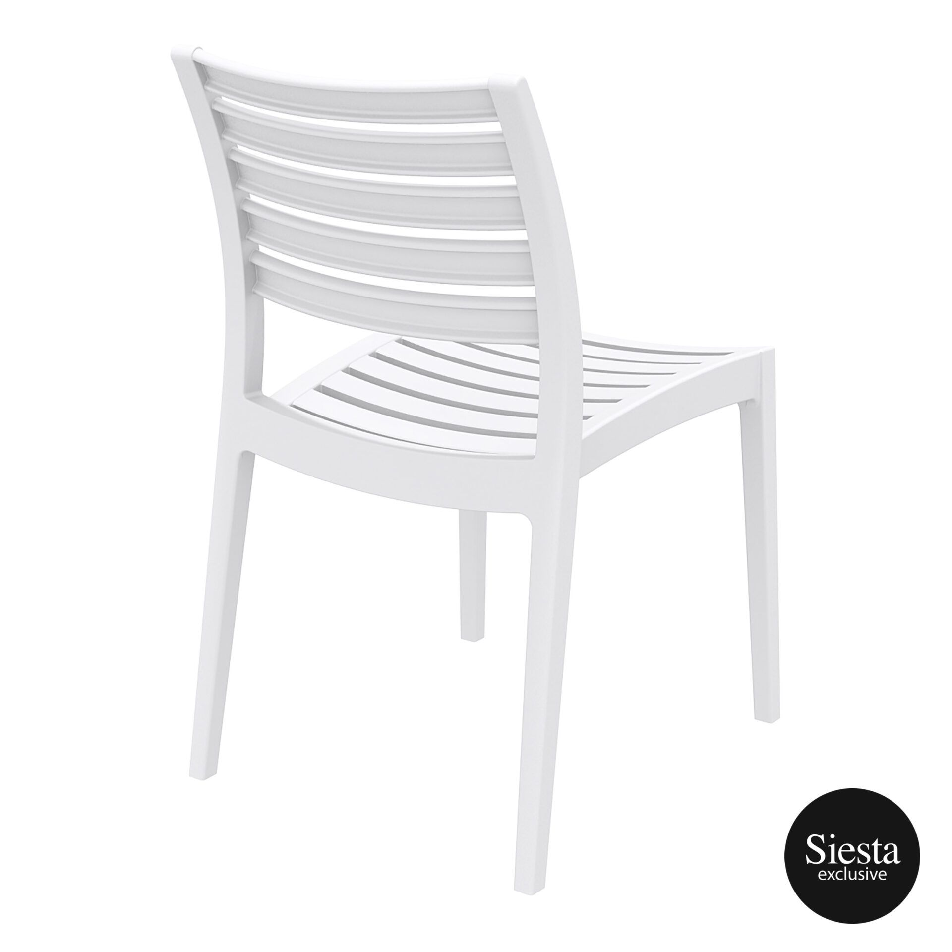 outdoor ares chair white back side 1