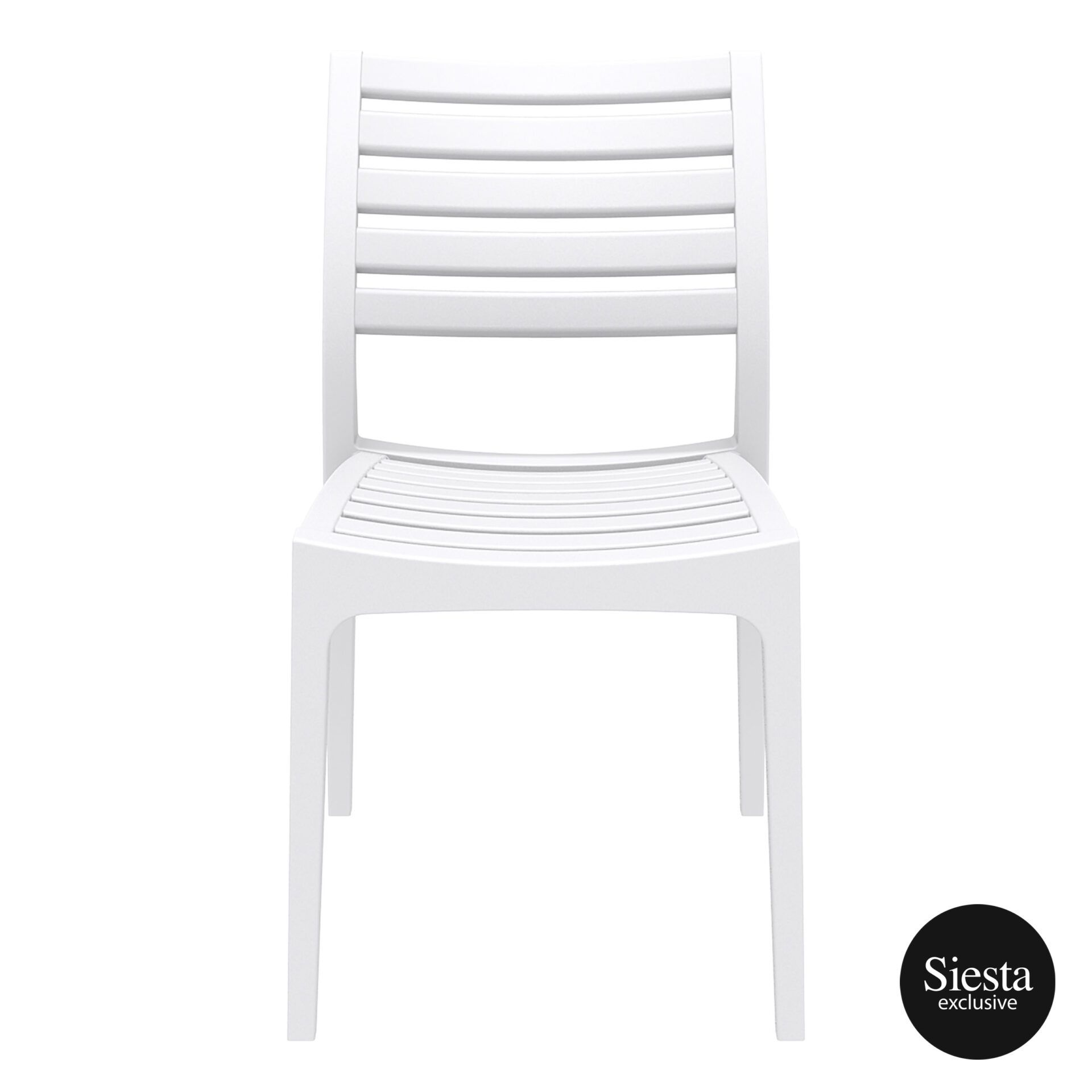 outdoor ares chair white front 1