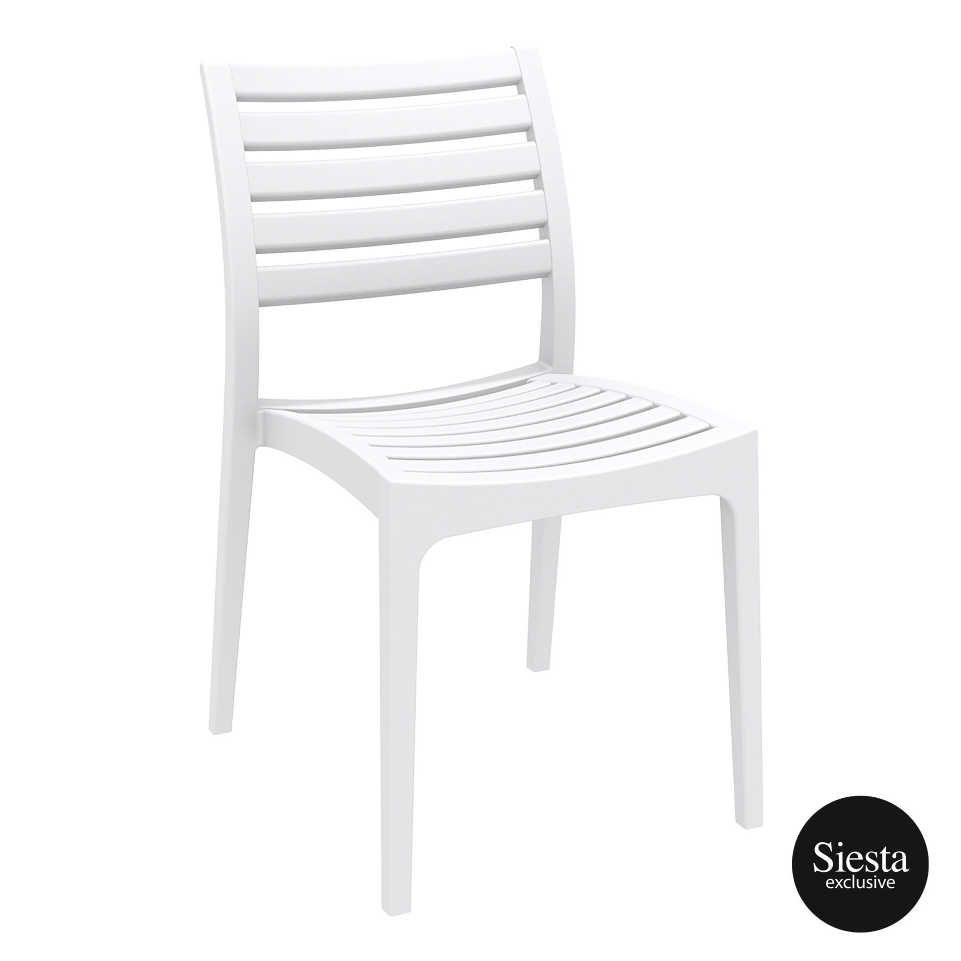 outdoor ares chair white front side 1