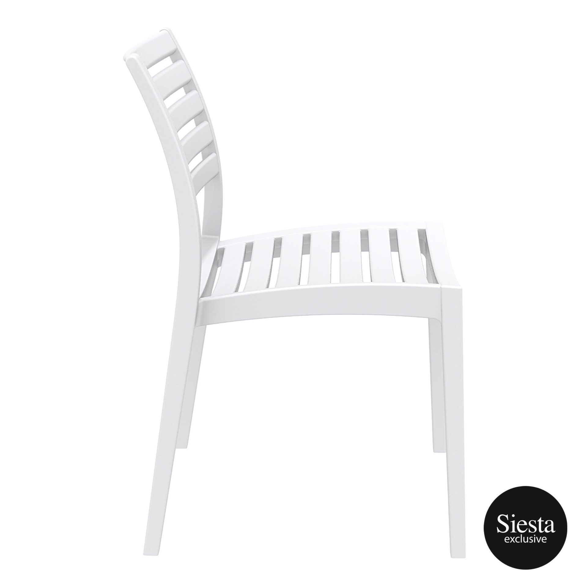 outdoor ares chair white side 1