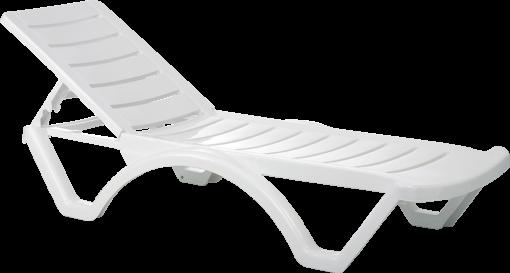 Aqua Sunlounger White