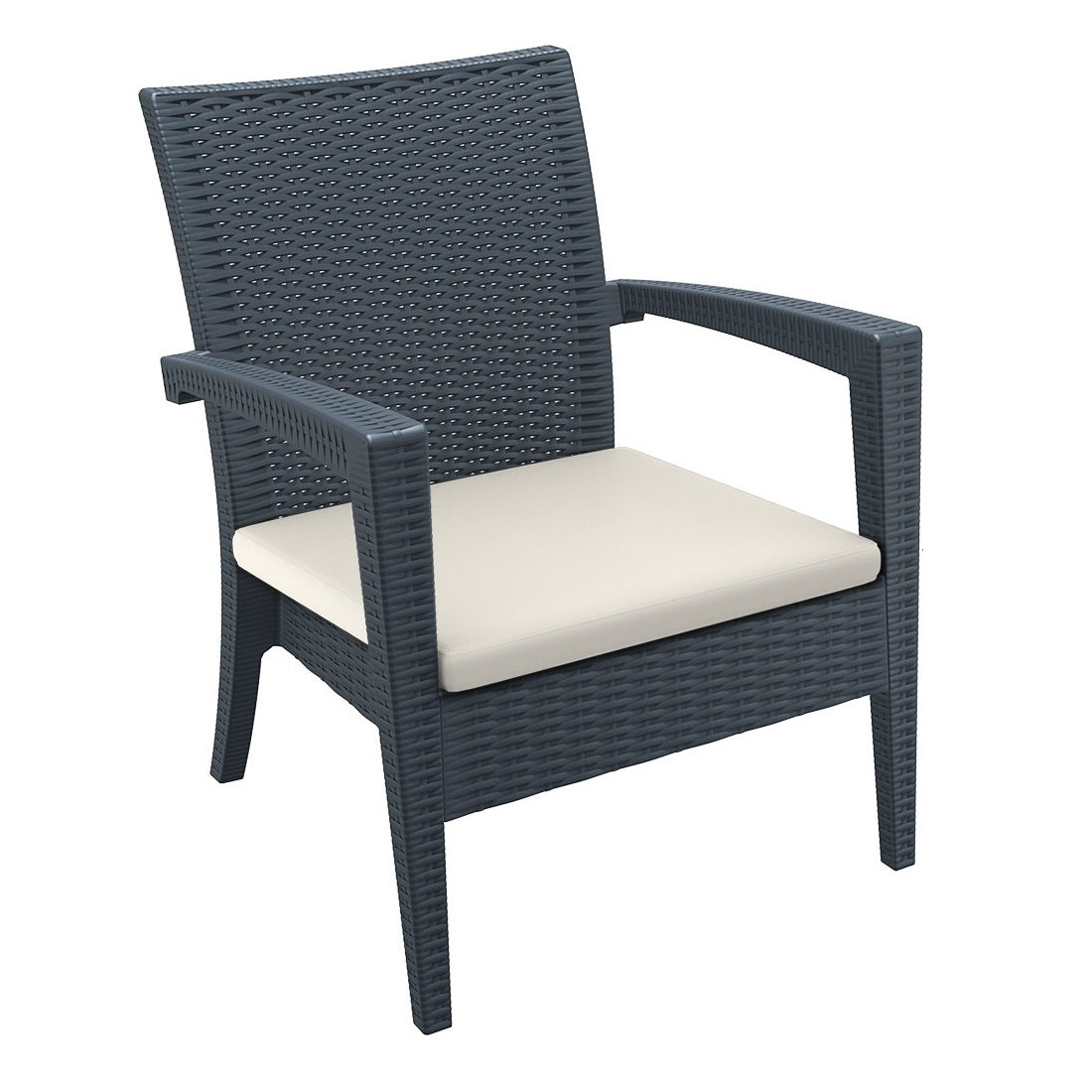 Tequila Lounge Armchair Anthracite With Cushion