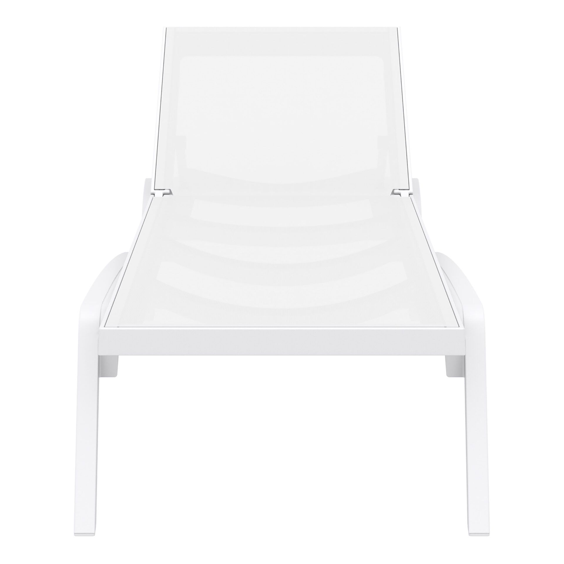 pool deck commercial pacific sunlounger white white front