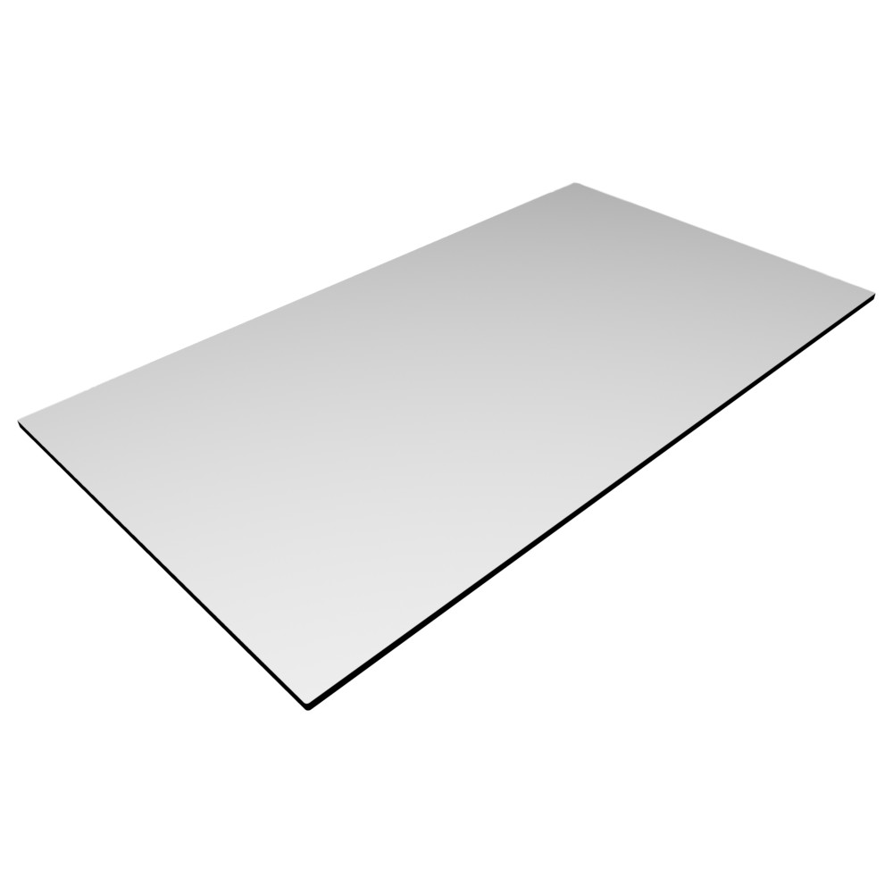 Compact Laminate Top Rectangle White
