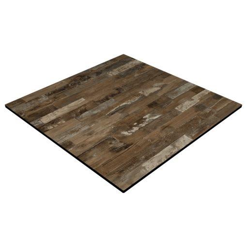 Compact Laminate Top Square Rustic Block Wood