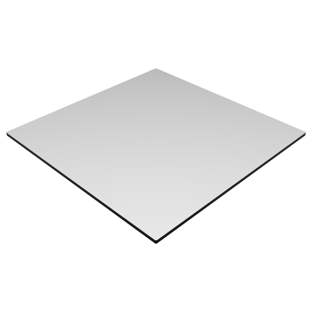 Compact Laminate Top Square White