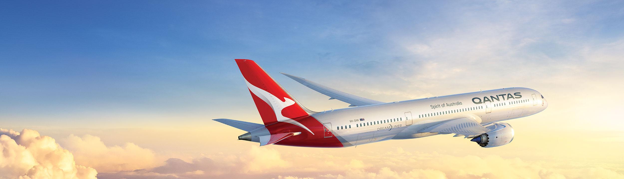 Qantas Aircraft in Sky