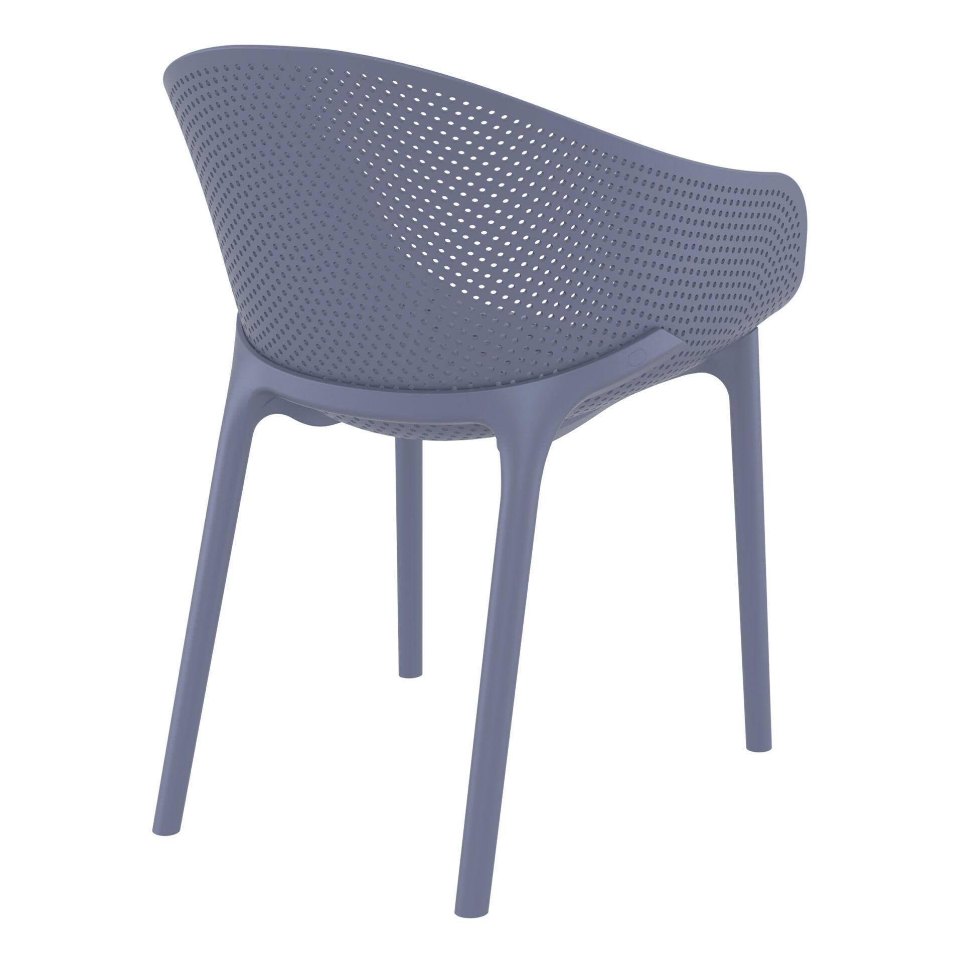 outdoor seating polypropylene sky chair darkgrey back side
