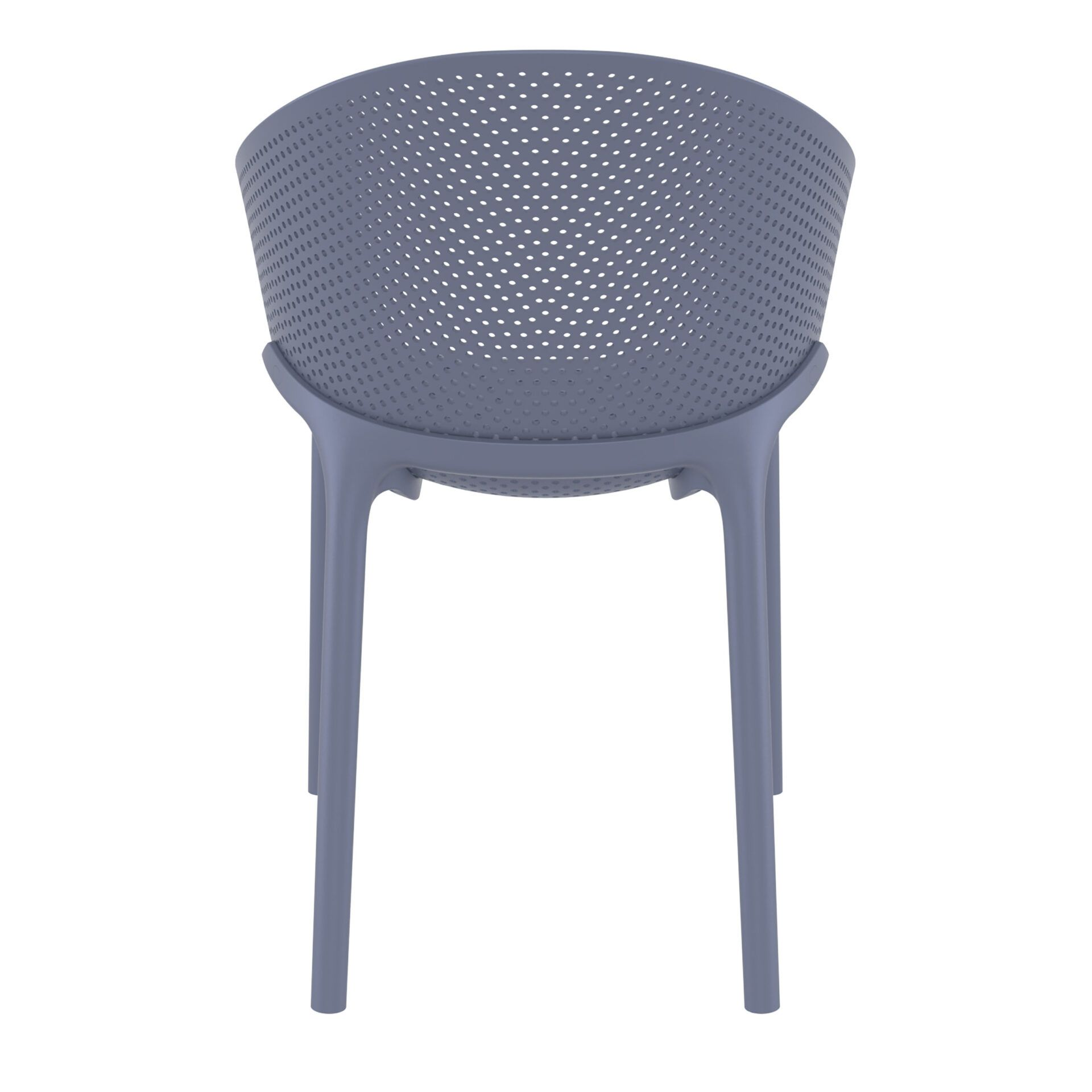 outdoor seating polypropylene sky chair darkgrey back