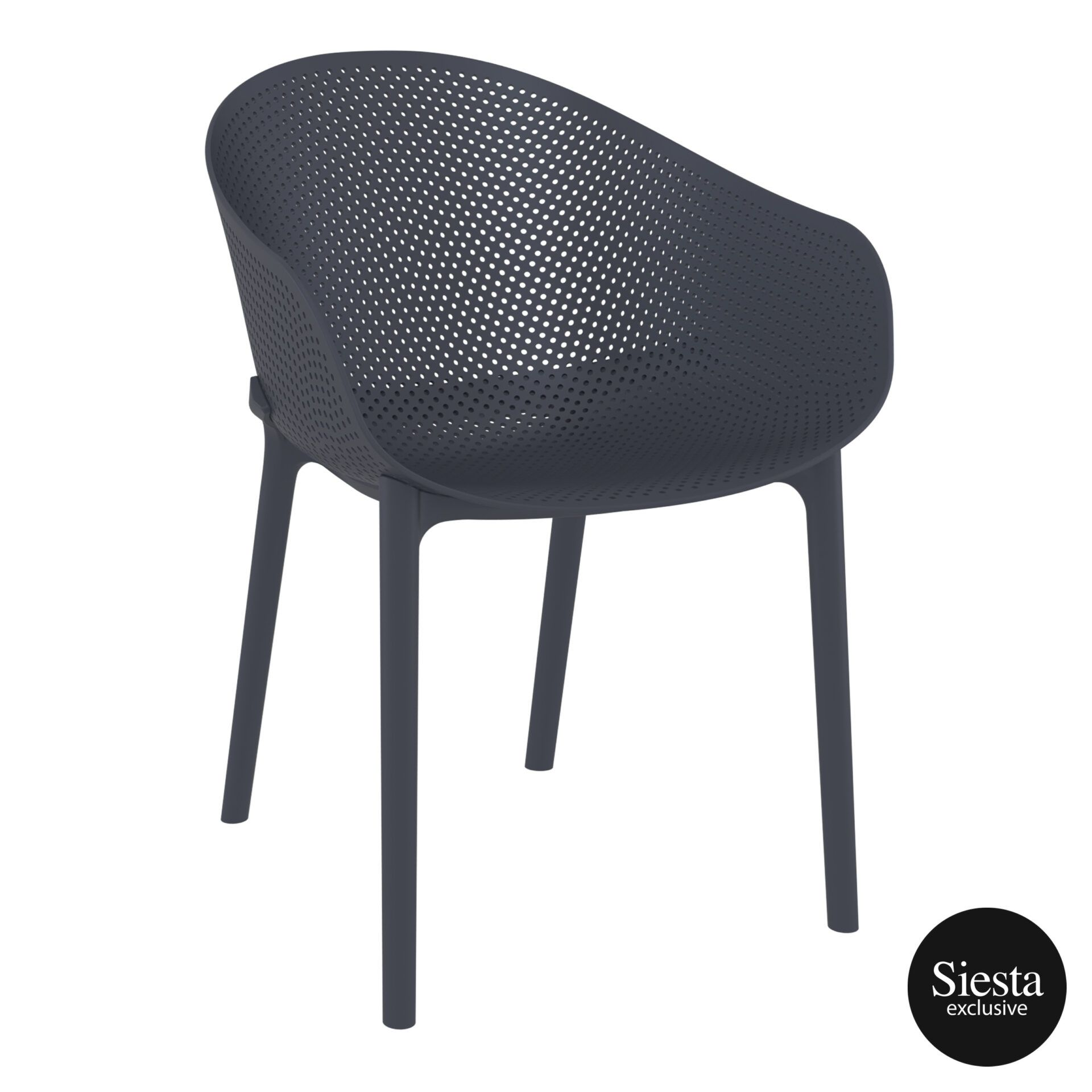 outdoor seating polypropylene sky chair darkgrey front side 2