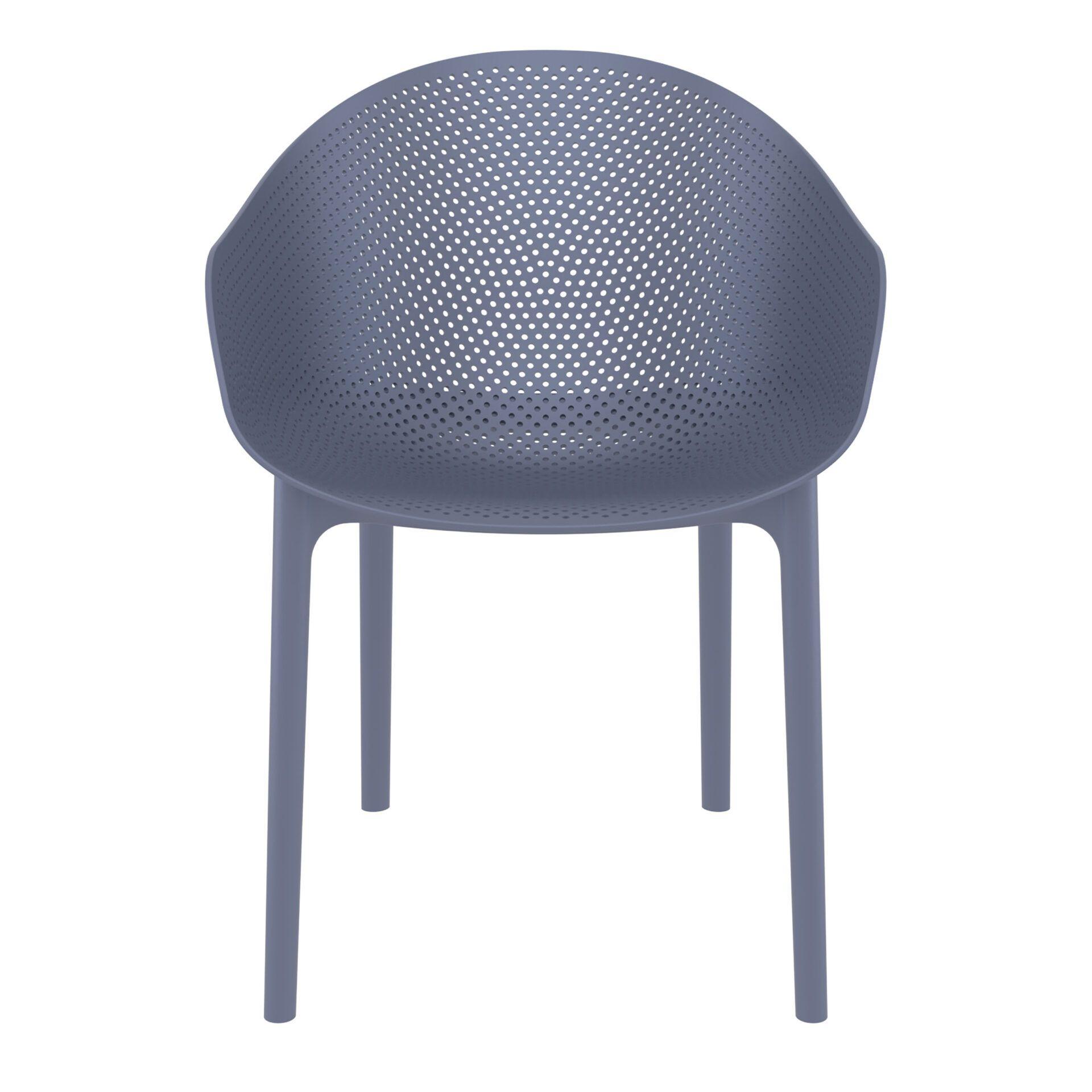 outdoor seating polypropylene sky chair darkgrey front