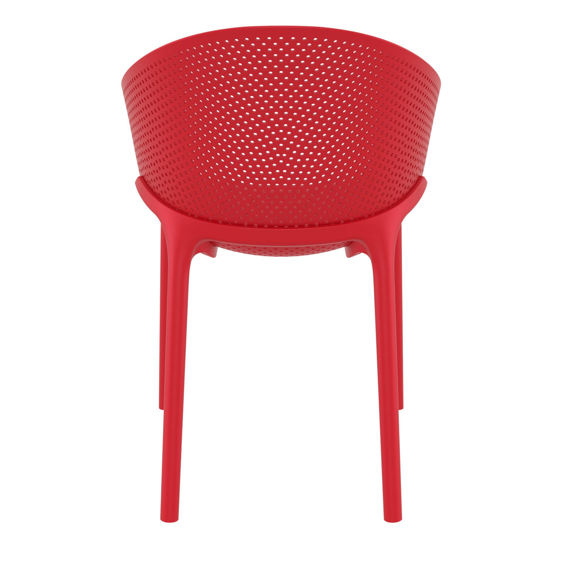 outdoor seating polypropylene sky chair red back