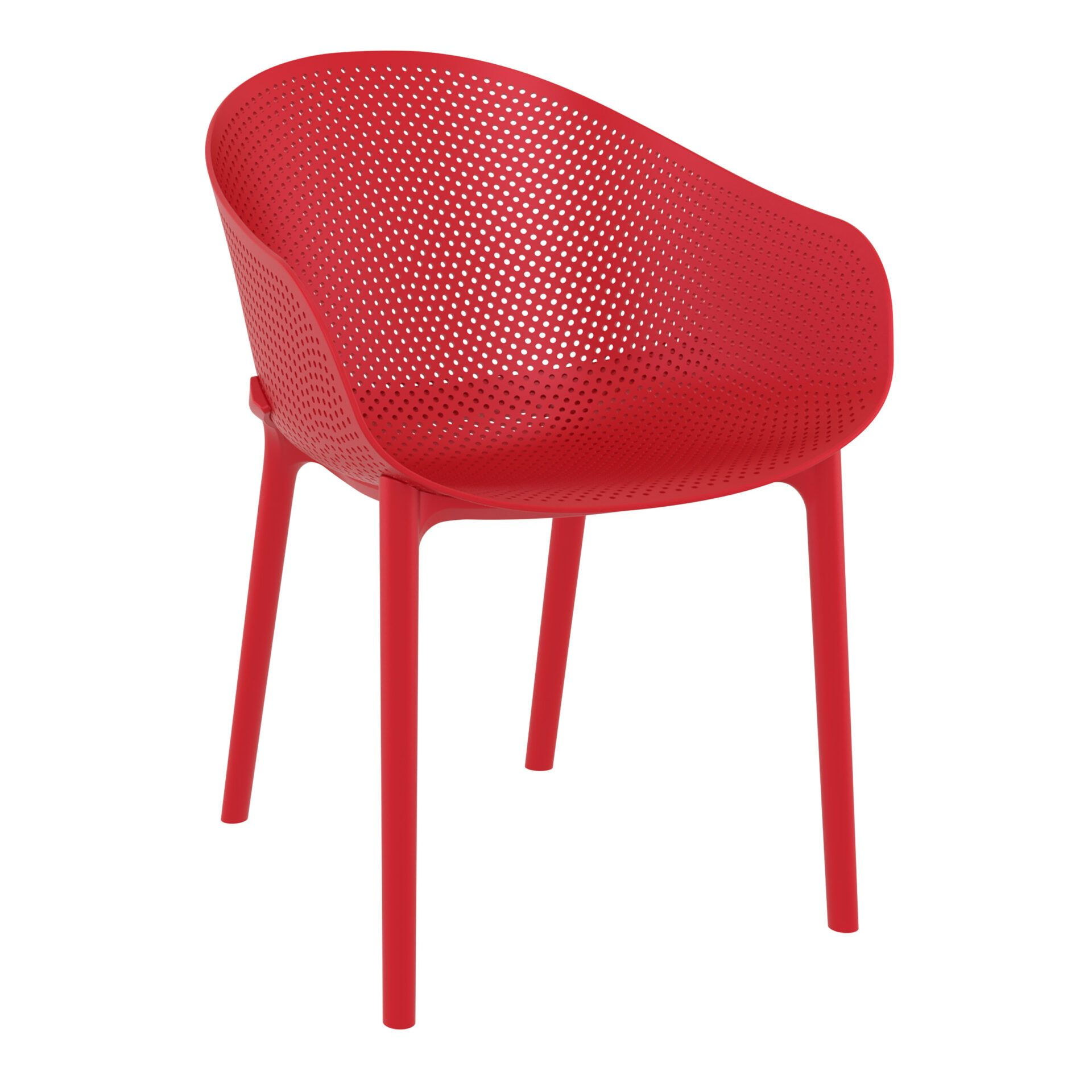 outdoor seating polypropylene sky chair red front side