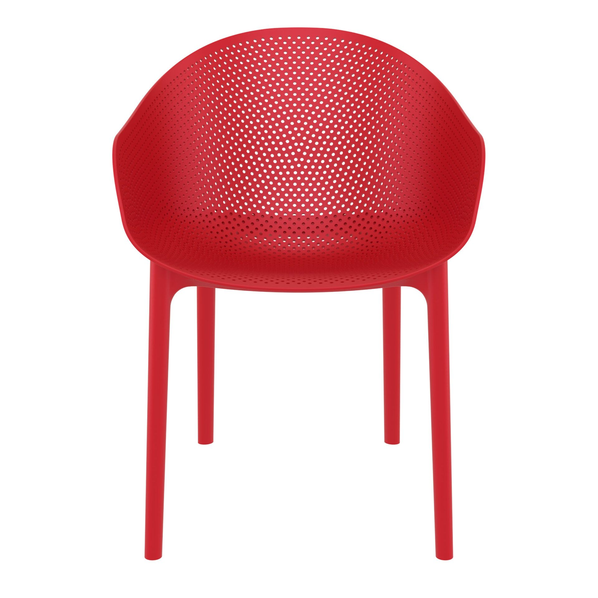 outdoor seating polypropylene sky chair red front