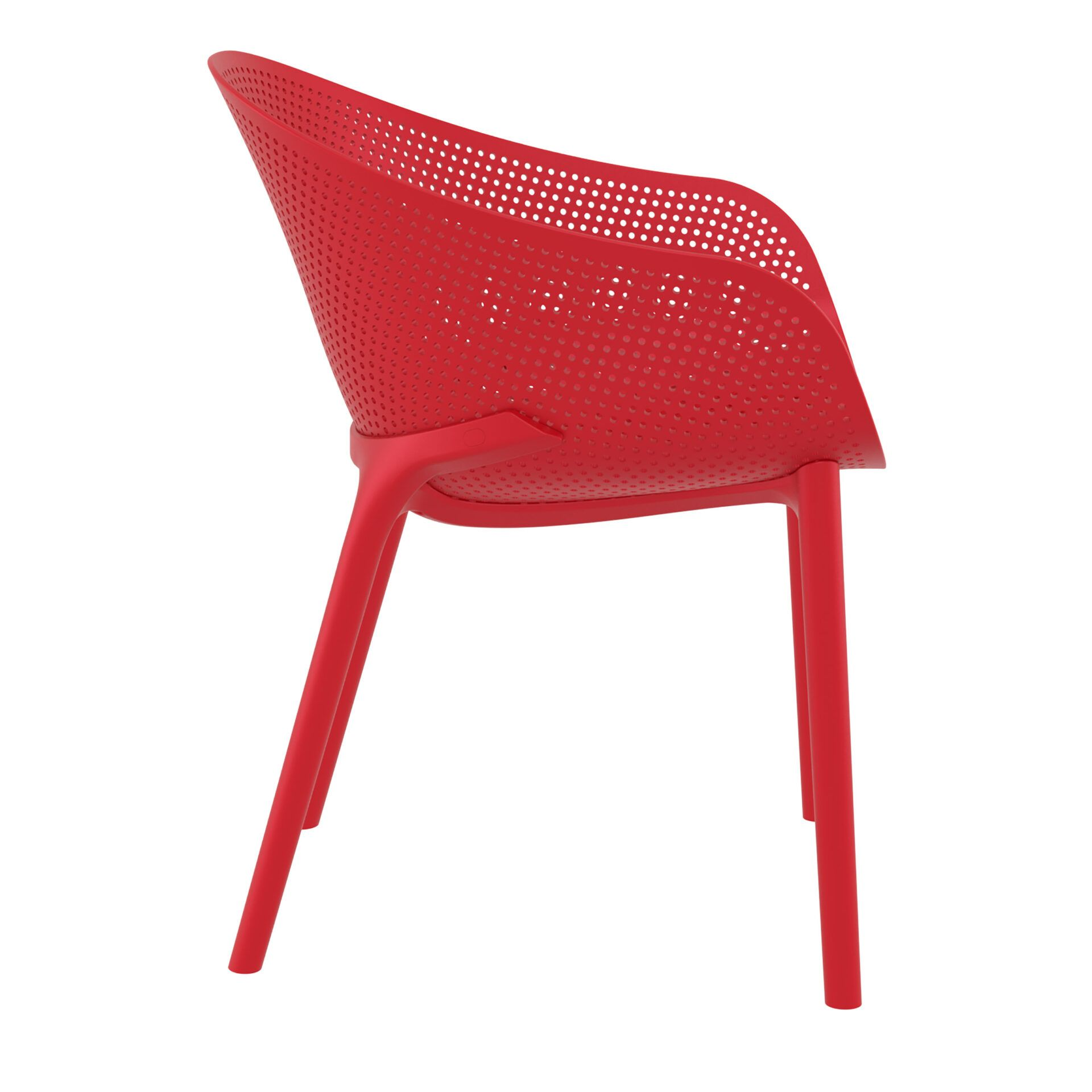 outdoor seating polypropylene sky chair red side