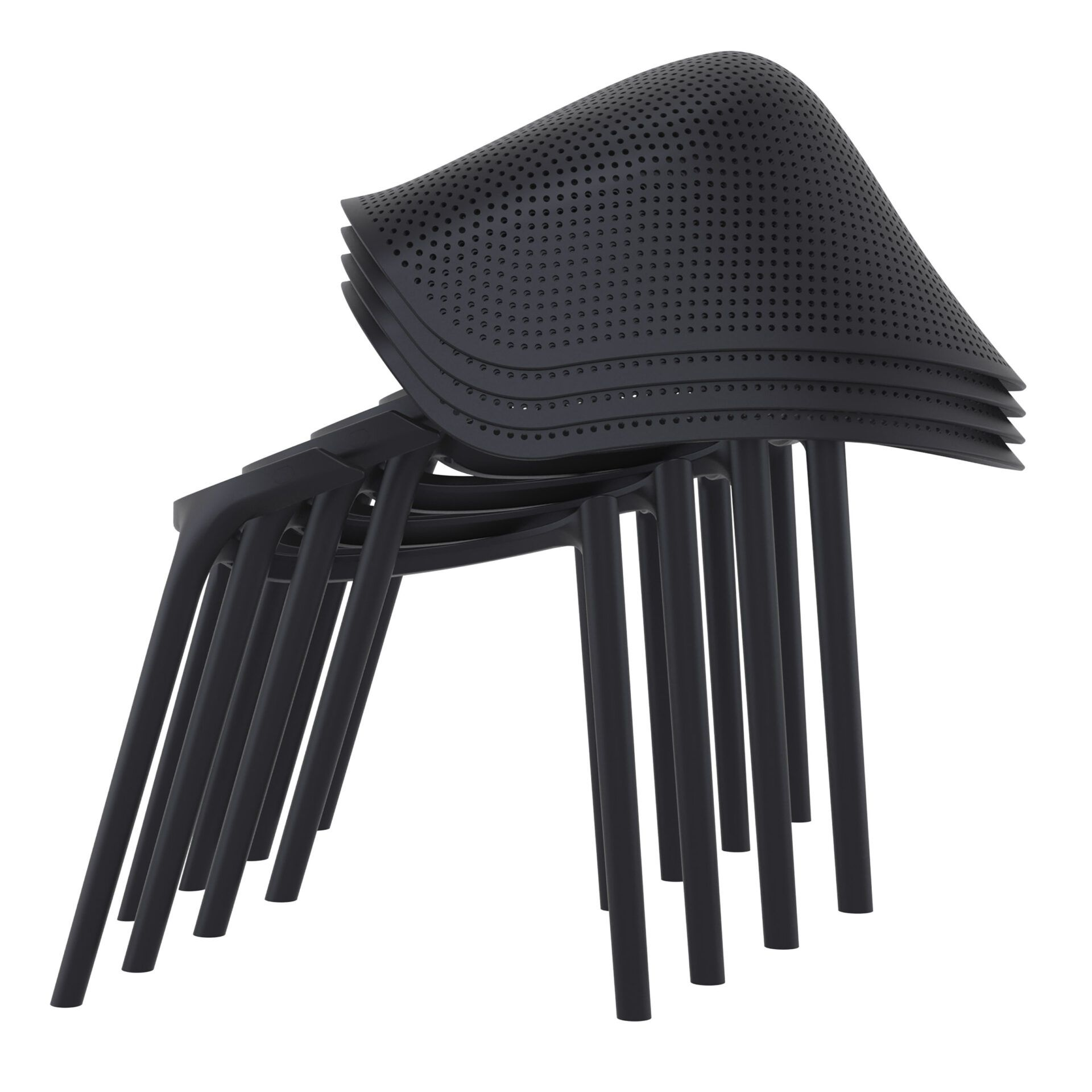 outdoor seating polypropylene sky chair stack 1