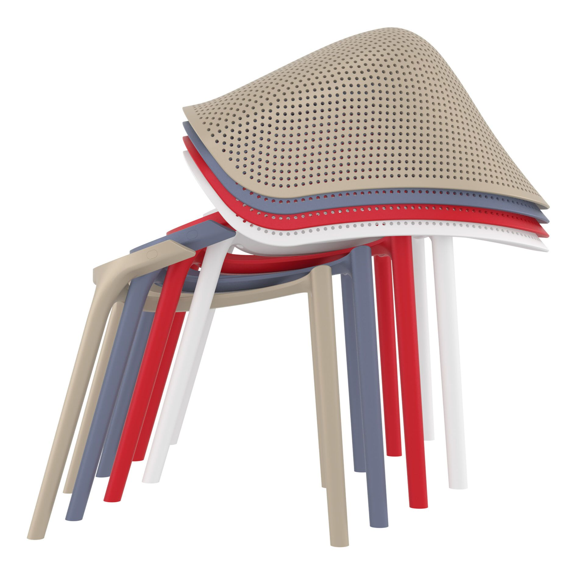 outdoor seating polypropylene sky chair stack 2
