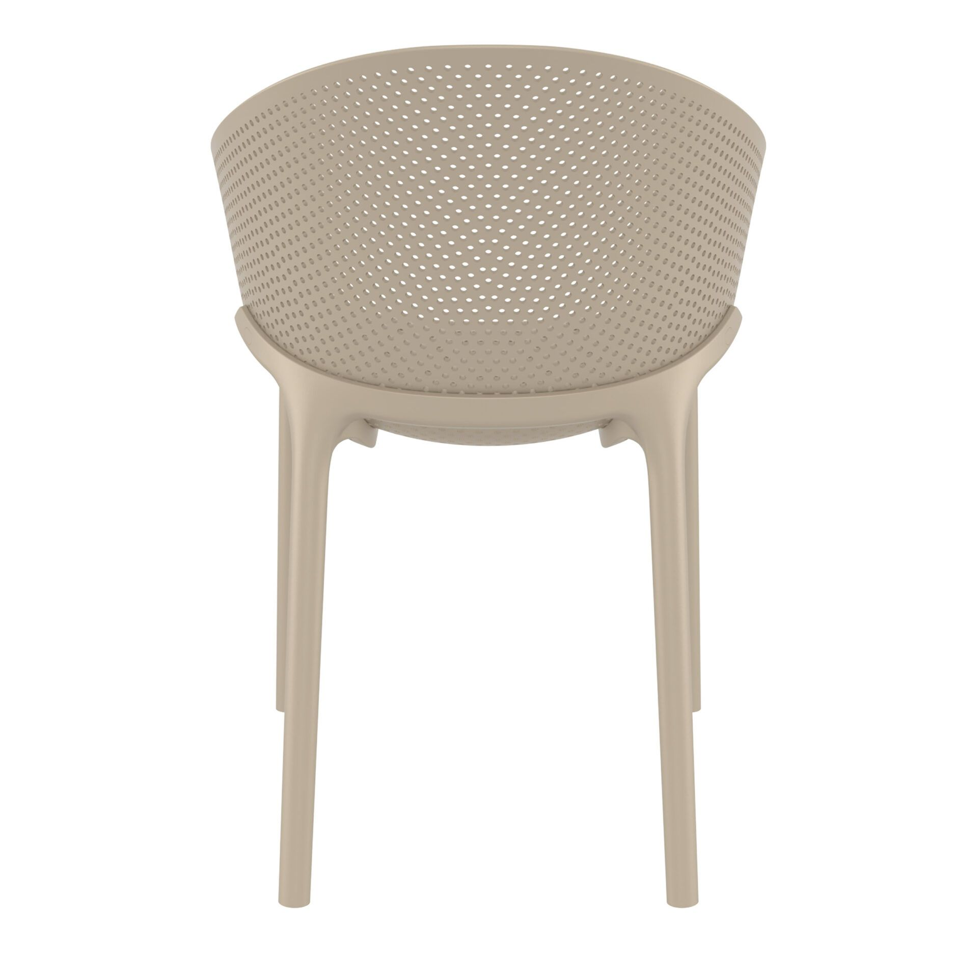 outdoor seating polypropylene sky chair taupe back