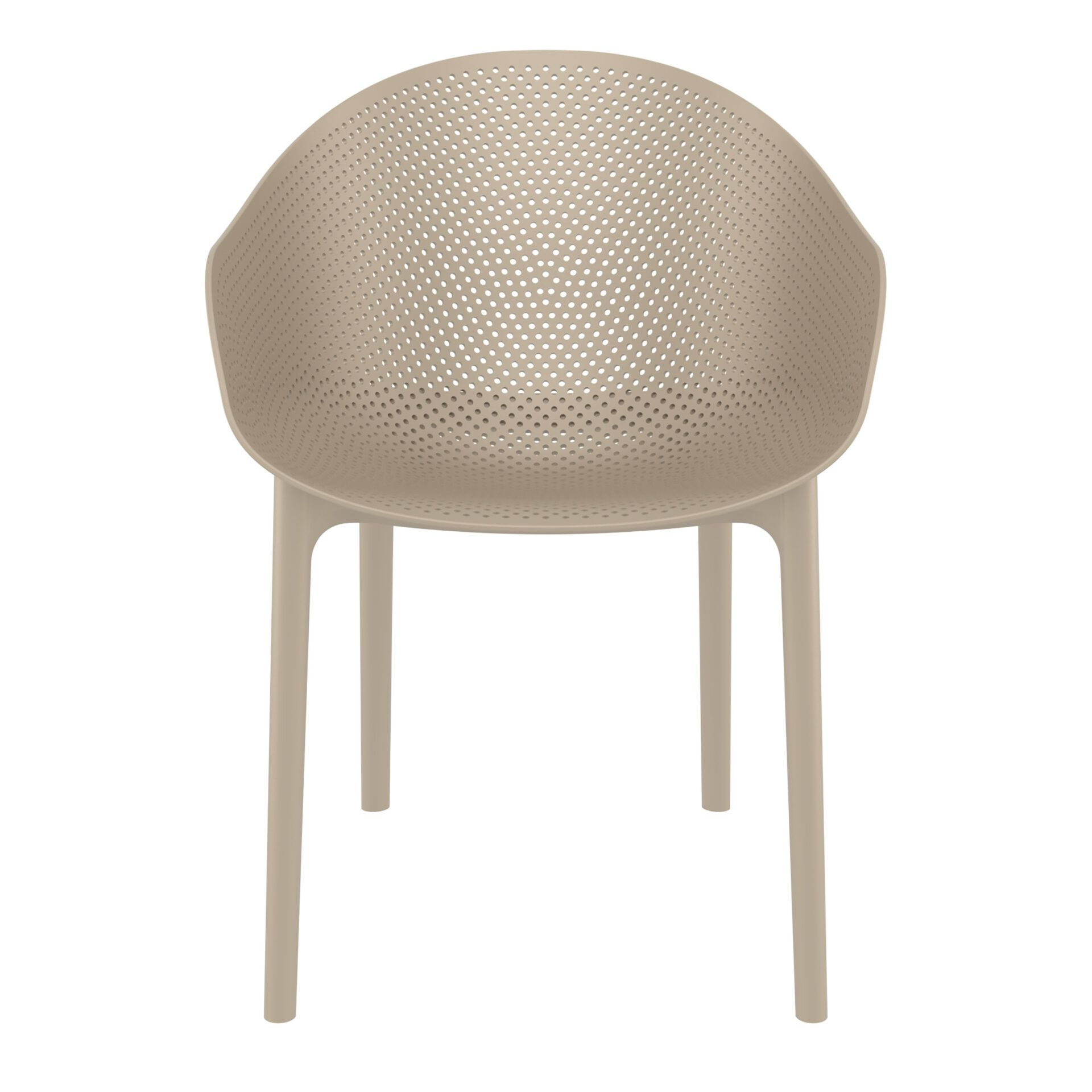 outdoor seating polypropylene sky chair taupe front