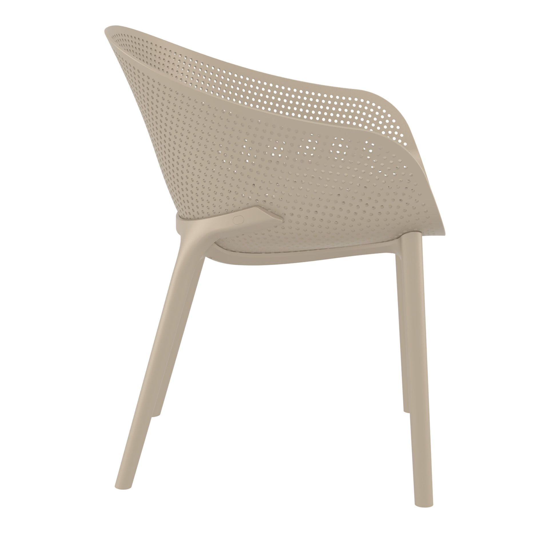 outdoor seating polypropylene sky chair taupe side