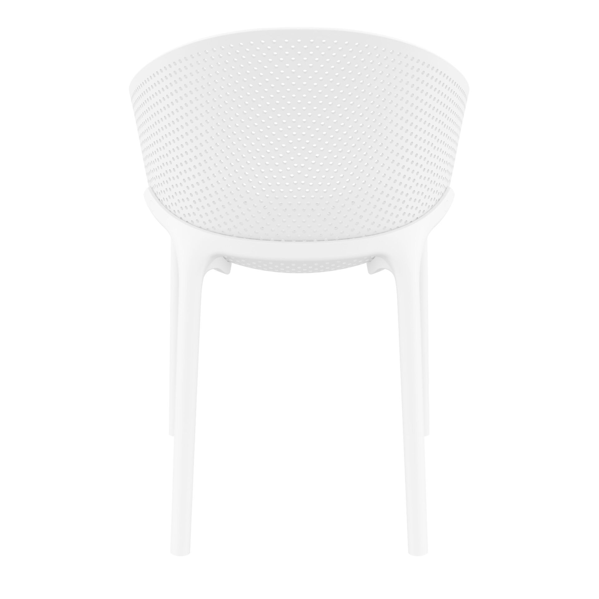 outdoor seating polypropylene sky chair white back